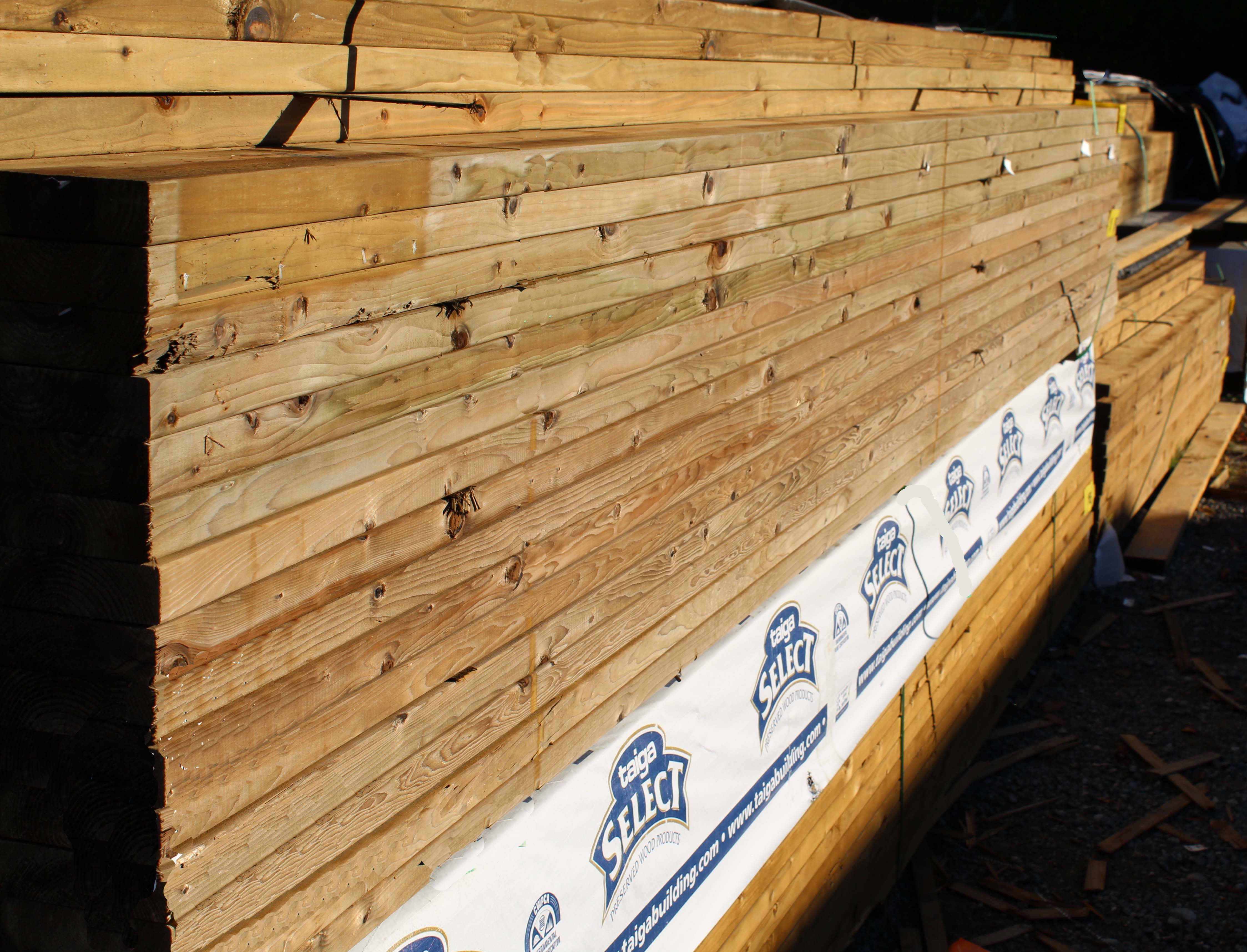 Variety of Wood and Lumber